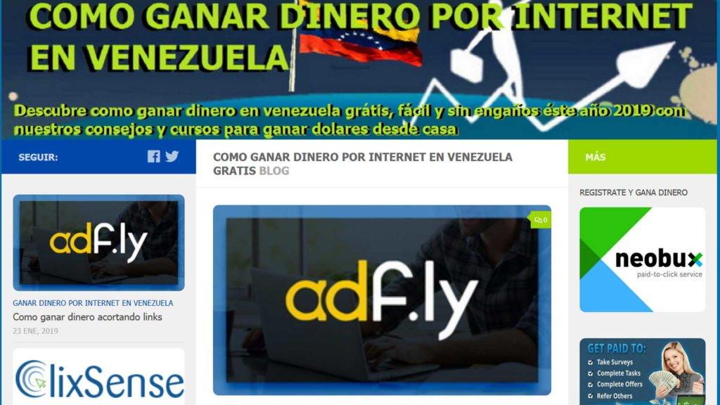 acortando enlace del blog ganardineroenvenezuela.com